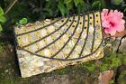Handmade Shell Beaded Purse Clutch Evening Bag Wedding Party White Gold Strap