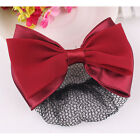 Timeproof Snood Net Bowknot Detail French Clip Hair Barrette For Woman PR