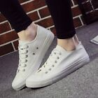New Women Ladies Lace Up Casual Canvas Sport Training Running Sneakers Shoes