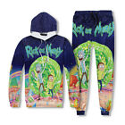 Rick and Morty Cartoon 3D Sweater Hoodie Pants Tracksuit Sweatshirt Jogger 2017