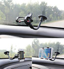 360 Soft Tube Windscreen In Car Mount Holder Cradle For Apple Iphone Phones