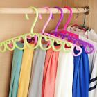New Heart shaped Clothes Hanger Scarf  Tie Belt Closet Organizer Hook Storage