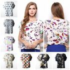 Fashion Women Casual Short Sleeve Loose Summer Chiffon T shirt Tops Shirt Blouse