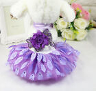 Pet Clothes Puppy Small Dog Cat Cotton Lace Tutu Skirt Apparel Princess Dress