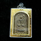 BLACK CLAY PHRA SOMDEJ BUDDHA CHANT SAMATI Powerful Thai WEALTH Buddha Amulet