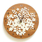 Wall Clock Creative  Retro European Pastoral Flower Vintage Watch 12""