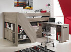 Graphite High Compact Sleeper, Cabin Bed, Desk, Cupboard and Drawer
