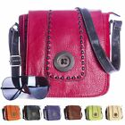 Big Handbag Shop Womens Trendy Faux Leather Button Detail Small Messenger Bag