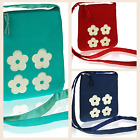 Manumit Fair Trade Small Cross Over Bag PURSE / DAISIES / RED / BLUE / TURQUOISE