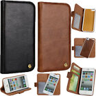 2IN1 Genuine Real Cowhide Leather Detachable Cover Stand Case For iPhone 4 5S SE