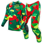 NEW TROY LEE MX 2016 SE Air Cosmic Camo Green Jersey & Pants Outfit Motocross