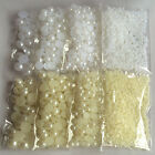 1800PCS Flatback Half Pearls Scrapbook Beads Gems DIY Mix 4 Size (3,5,8,10mm)