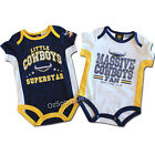 NRL North Queensland Cowboys 2-Piece Bodysuit Set (Sizes 000 - 1)