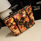 Women Ladies New Vintage Style Oil Painting Flower Tote Bag Shoulder Bag Handbag