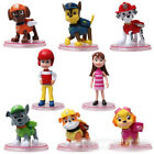 12pcs Cute Paw Patrol Cake Toppers Action Figures Doll Kids Children Toy Set