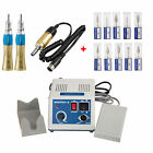 Dental Micro Motor Electric Motor 35K rpm with Straight Handpiece + Burs/Drills