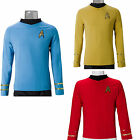 Star Trek TOS Cosplay Captain Kirk Shirt Yellow Spock Blue Uniform Costume Red on eBay