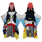 Nifty Kids Soft Cotton Hooded Pirate Poncho Towel Child Novelty Bath & Beachwear