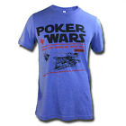 "NEW POKER WARS MEN'S T-SHIRT ""MAY THE RIVER BE WITH YOU""POKER TO BLUFF, CARDS"