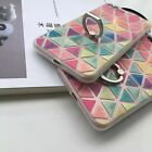 Color Triangle Metal Ring Stand Holder TPU Cover Case For Apple iphone 6S 7 Plus