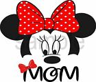 easy iron on Minnie Mouse Mom T Shirt Transfer 3 sizes to pick