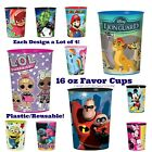 Designware 16oz Party Cups Plastic Favor Stadium Keepsake Cup