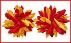 SCHOOL UNIFORM RED YELLOW GOLD CHEER DANCE GYM KORKER HAIR BOWS BOBBLES CLIPS