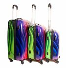 Set of 3 piece travel luggage Super Lightweight 4 wheels trolleys suitcase bag