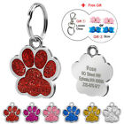 Glitter Paw Custom Dog Tags for Pets Engraved Pet Puppy Cat Name ID Collar Tags