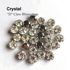 Crystal Clear 144PCS faceted Sew on Rhinestone Metals Claws for Dress Making