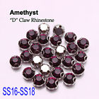 Amethyst  144PCS faceted Sew on Rhinestone Metals Claws for Dress Making Garment