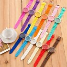 Fashion Unisex Watches Quartz Jelly Geneva Silicone Analog Sport Wrist Watch