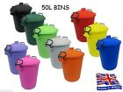COLOURED BIN 50L LITRE IDEAL FOR ANIMAL FEED / HORSES / CATS / DOGS / BIRDS