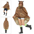 Smiffys Novelty Tiger Party Poncho Coats Waterproof Festival Kagool With Bag