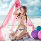 Korean Style Women Sexy Bandage Bikini Set Push-up Padded Bra Swimsuit Swimwear