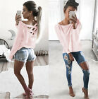 Fashion Womens Long Sleeve Blouse Sweatshirt Pullover Ladies Casual T-Shirt Tops New with tags