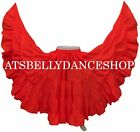 RED Cotton Gypsy 25 Yard Skirt Tribal Belly Dance 25 YD SKIRT DANCING Costume