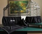 Handcrafted Black Fabric Bird Cage Skirt Seed Catcher Guard or Cover XS-XXL