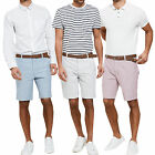 Threadbare Mens Magician Oxford Chinos With Free Belt New Designer Cotton Shorts