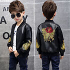 Fashion Kids Boys Coats Jackets Children Clothing Leather Spring Casual Jacket