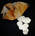 Re enactment-17th-18th Century COINS WITH MONEY POUCH 2 Crowns 6 Shillings