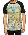 Hieronymus Bosch Garden of Earthly Delights All Over Print Baseball T Shirt