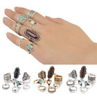 Retro Women Girls 8Pcs/Set Band Knuckle Midi Mid Finger Tip Stacking Ring Punk