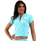Ladies Swim Rash Rashie Jacket Short Sleeve With Zip Swimwear UV Sun Protection