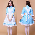Half Sleeve Alice Costume Kagero Project Sakura Cosplay Maid Outfit Party Blue