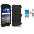 Armor Heavy Duty Rugged Hybrid Case Belt Clip Stand Cover For ZTE GRAND X4 Z956