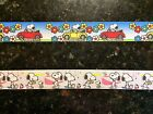"""5 Yards of 7/8"""" Snoopy Grosgrain Ribbon- you choose style  (USA SELLER!)"""
