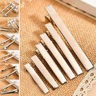 GOD 50x Hair Clips Plated Silver Crocodile Alligator Clips Findings For Bows DIY