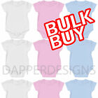 BABY VESTS GROW SUIT PINK BULK WHOLESALE SOFT STRETCH COTTON HALFSLEEVE MADE UK