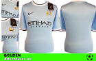 *13 / 14 - NIKE ; MANCHESTER CITY  HOME SHIRT SS / PERSONALIZED = SIZE*